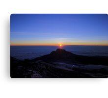 Sunrise from the Summit of Mount Kilimanjaro Canvas Print