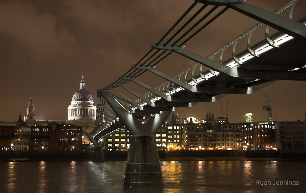 The Millennium Bridge and St Pauls  by Ryan Jennings