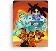 Escape From Robot Island Canvas Print