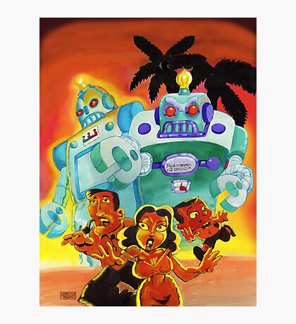 Escape From Robot Island Photographic Print