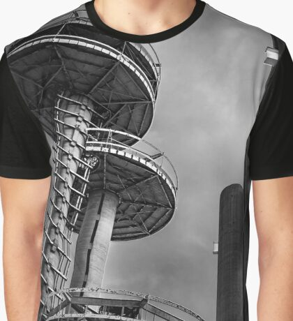 Observatory Towers Next To New York State Pavilion | Flushing, New York Graphic T-Shirt