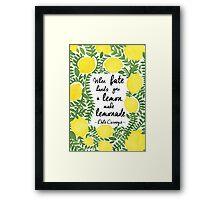 The Fresh Lemon Framed Print