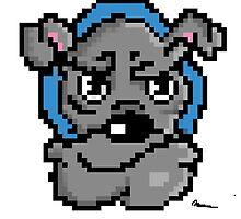 Pixel bulldog by Nickahjin