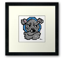 Pixel bulldog Framed Print