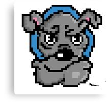 Pixel bulldog Canvas Print