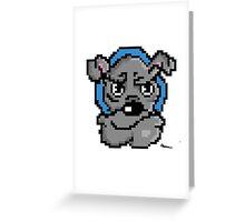 Pixel bulldog Greeting Card