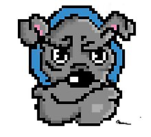 Pixel bulldog Photographic Print