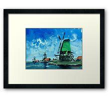 Windmills in Holland Framed Print