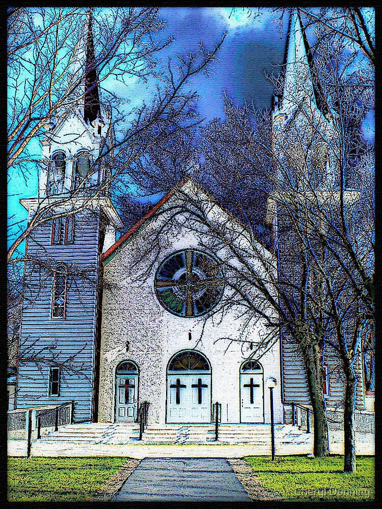 st malo church - illustrated by Cheryl Dunning