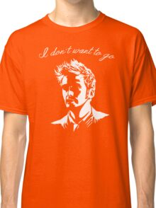 Tenth Doctor - I don't want to go Classic T-Shirt