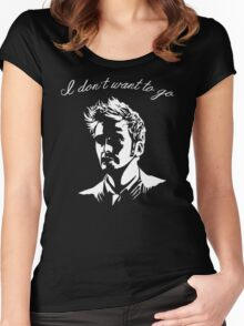 Tenth Doctor - I don't want to go Women's Fitted Scoop T-Shirt