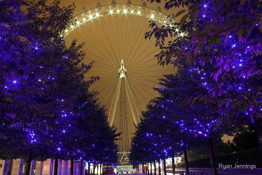 London Eye at Night by Ryan Jennings