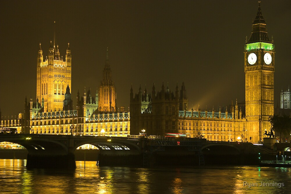 Westminster at night, London, UK by Ryan Jennings