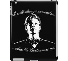 Eleventh Doctor - I will always remember... iPad Case/Skin