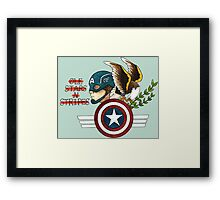 Captain America Tattoo Flash Framed Print