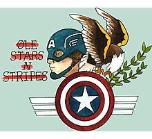 Captain America Tattoo Flash Photographic Print