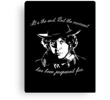 It's The End - 4th Doctor Regeneration Tee Canvas Print