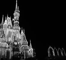 Walt Disney World Cinderella's Castle Dream Lights by Erin Leigh