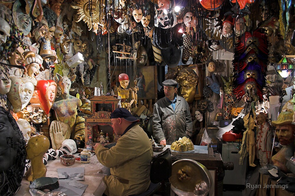 Agostini Masks in Florence by Ryan Jennings