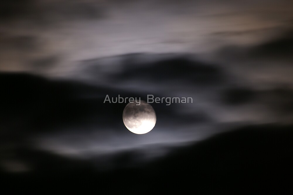 Clouded moon by Aubrey  Bergman
