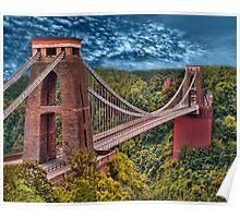 •●♥Ƹ̵̡Ӝ̵̨̄Ʒ♥●•٠·˙●•٠·Clifton Suspension Bridge   •●♥Ƹ̵̡Ӝ̵̨̄Ʒ♥●•٠·˙●•٠·  Poster