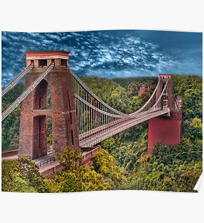 •●♥Ƹ̵̡Ӝ̵̨̄Ʒ♥●•٠·˙●•٠·Clifton Suspension Bridge   •●♥Ƹ̵̡Ӝ̵̨̄Ʒ♥●•٠·˙●•٠·  Poster