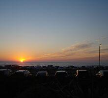 Sunset at Ocean Beach by gubna