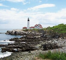 Maine light house by Tina  Bark