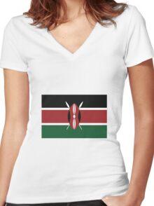 Kenya Women's Fitted V-Neck T-Shirt