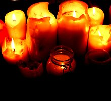 Candles in the dark by Vivien Parkhouse