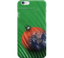 christmas earth iPhone Case/Skin