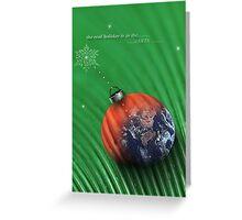christmas earth Greeting Card