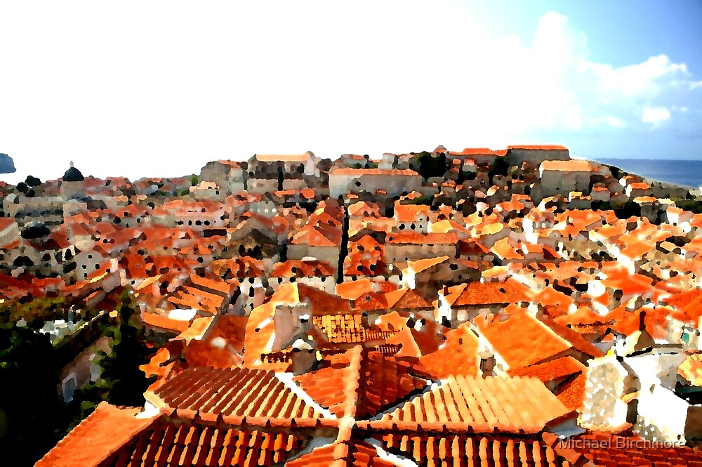 Dubrovnik Roofs 2 by Michael Birchmore