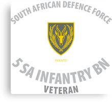 SADF 5 SA Infantry Battalion Veteran  Canvas Print