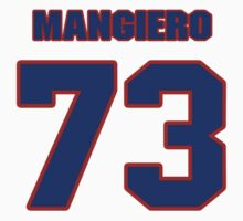 National football player Dino Mangiero jersey 73 by imsport