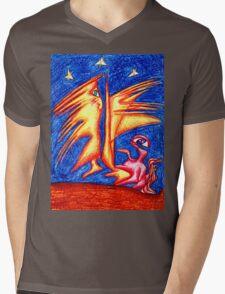 Starry Night Mens V-Neck T-Shirt