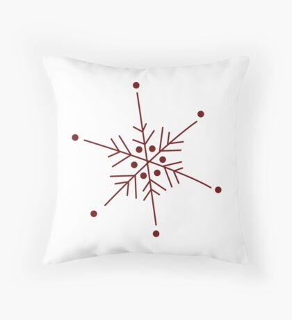Snowflake 1 Throw Pillow