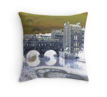 Pultney Bridge Throw Pillow