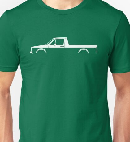Car silhouette for VW Caddy Mk1 classic pickup enthusiasts Unisex T-Shirt