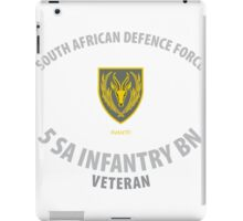 SADF 5 SA Infantry Battalion Veteran  iPad Case/Skin
