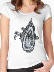 Bio Hazard Fish Women's Fitted Scoop T-Shirt