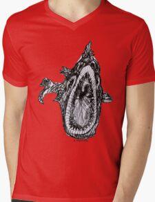 Bio Hazard Fish Mens V-Neck T-Shirt
