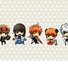 Gintama Chibi Group by banafria