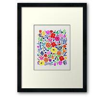Secret Flower Garden Framed Print