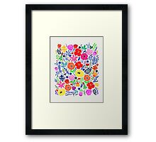 Secret Flower Garden Framed Print