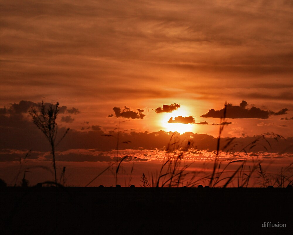 Oklahoma Sunset by diffusion