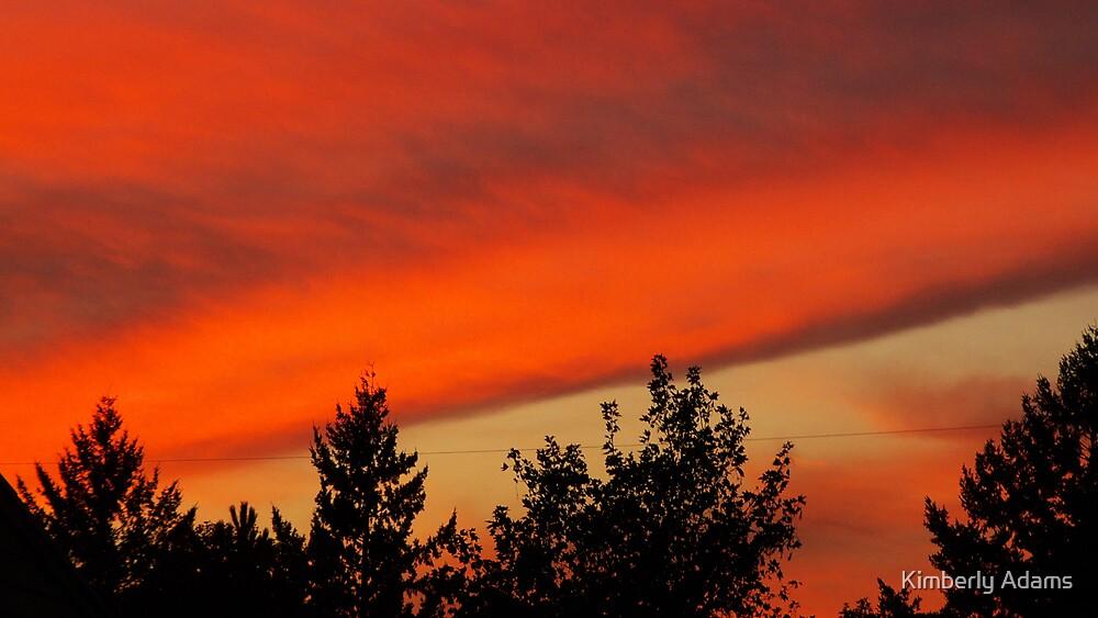 Orange Fall Sunset by Kimberly Adams