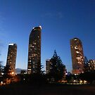 Broadbeach Sky Scrapers at Twilight by FangFeatures