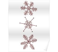 3 Snowflakes Option 1 Poster