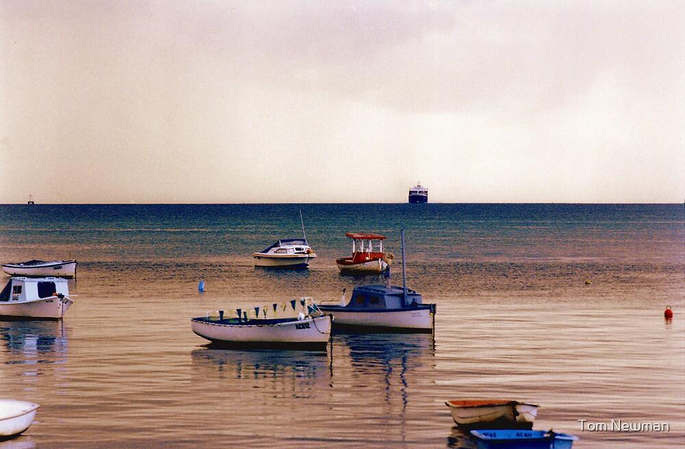 Motor Boats at Rosebud  by Tom Newman